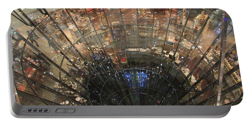 Glass Spiral Portable Battery Charger featuring the photograph Glass Spiral by Christiane Schulze Art And Photography