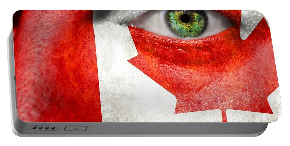 Art Portable Battery Charger featuring the photograph Go Canada by Semmick Photo