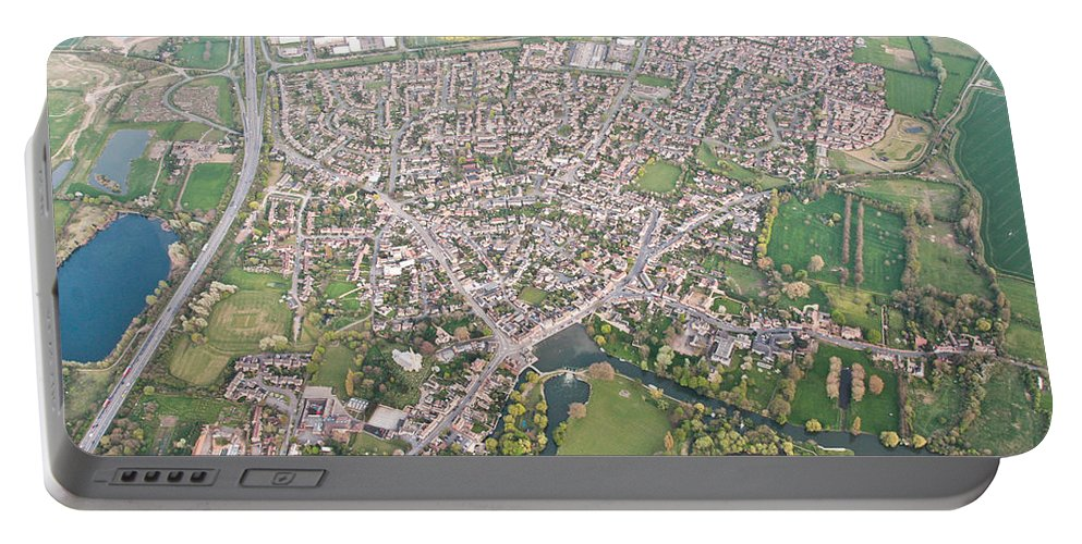 A14 Portable Battery Charger featuring the photograph Godmanchester by Tom Gowanlock