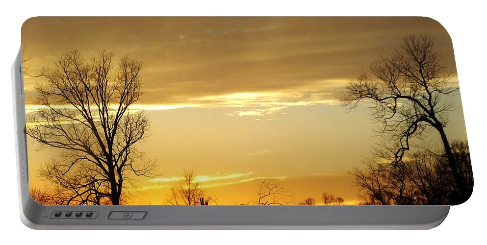 Gold Portable Battery Charger featuring the photograph Golden Sunset 61 by Lizi Beard-Ward