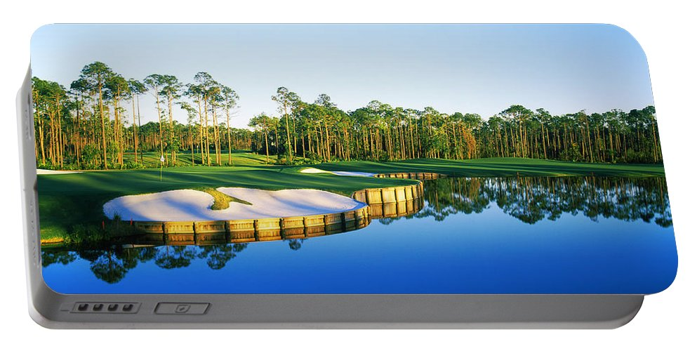 Photography Portable Battery Charger featuring the photograph Golf Course At The Lakeside, Regatta by Panoramic Images