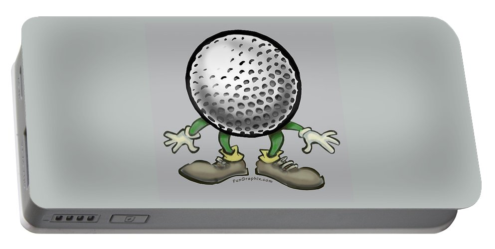 Golf Portable Battery Charger featuring the digital art Golf by Kevin Middleton