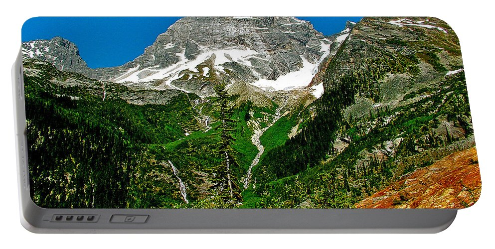Great Glacier Trail In Glacier Np Portable Battery Charger featuring the photograph Great Glacier Trail In Glacier Np-british Columbia by Ruth Hager