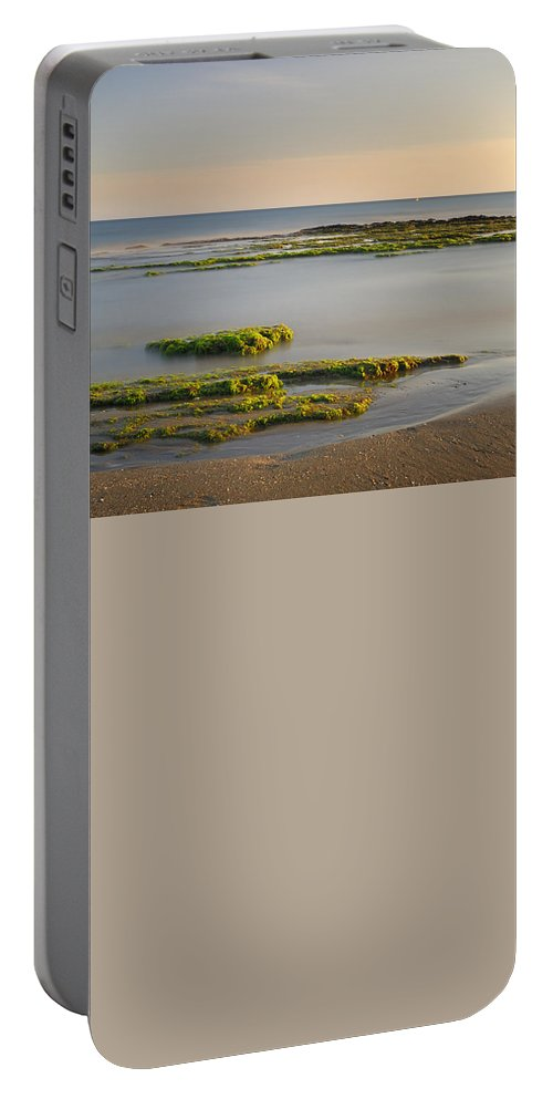 Water Portable Battery Charger featuring the photograph Green Coast by Guido Montanes Castillo