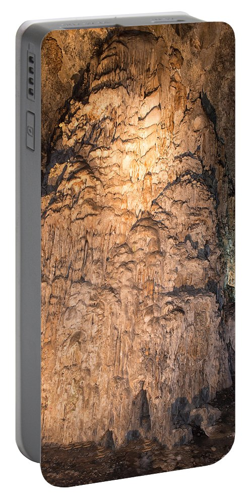 Caverns Portable Battery Charger featuring the digital art Grutas De Cacahuamilpa by Carol Ailles