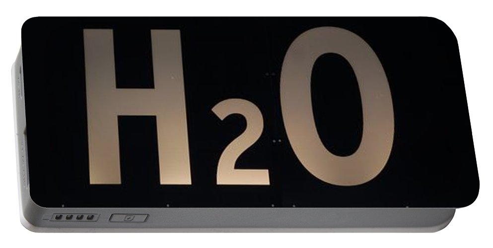 Abstract Portable Battery Charger featuring the photograph H2O by Rob Hans