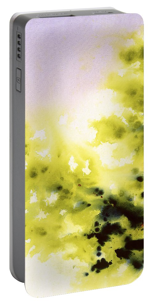 Original Portable Battery Charger featuring the painting Haiku by Jerome Lawrence