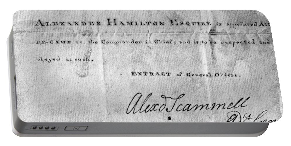 1777 Portable Battery Charger featuring the photograph Hamilton: Appointment, 1777 by Granger