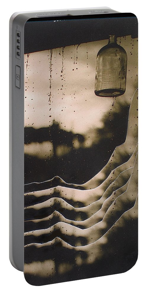 Hanging Bottle Rain Collage Old Tucson Arizona 1967-2012 Portable Battery Charger featuring the photograph Hanging Bottle Rain Collage Old Tucson Arizona 1967-2012 by David Lee Guss