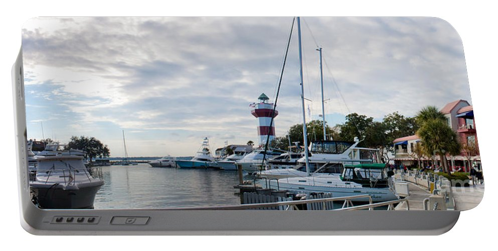 Hilton Head Portable Battery Charger featuring the photograph Harbourtown Harbor by Thomas Marchessault