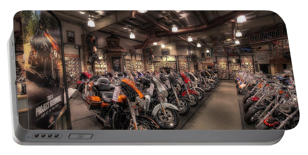 Harley Davidson Portable Battery Charger featuring the photograph Harley Davidson by David B Kawchak Custom Classic Photography