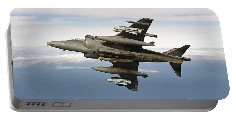 Banking Portable Battery Charger featuring the photograph Harrier Gr7 by Paul Fearn