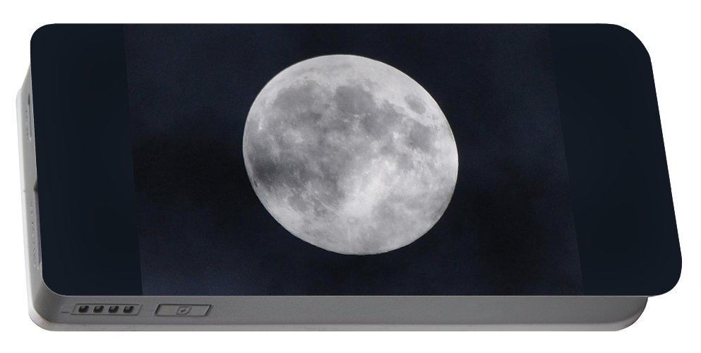 Harvest Moon Portable Battery Charger featuring the photograph Harvest Moon by Savannah Gibbs