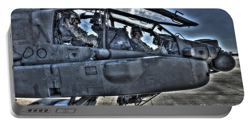 Aircraft Portable Battery Charger featuring the photograph Hdr Image Of Pilots Equipped by Terry Moore