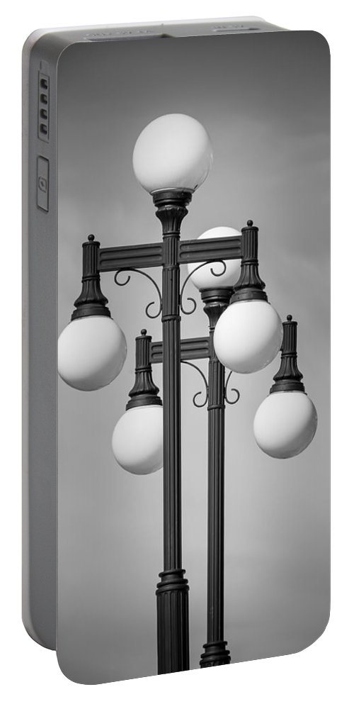 Lamps Portable Battery Charger featuring the photograph Historic Ybor Lamp Posts by Carolyn Marshall