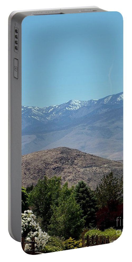 Acrylic Prints Portable Battery Charger featuring the photograph Home Is Nevada by Bobbee Rickard