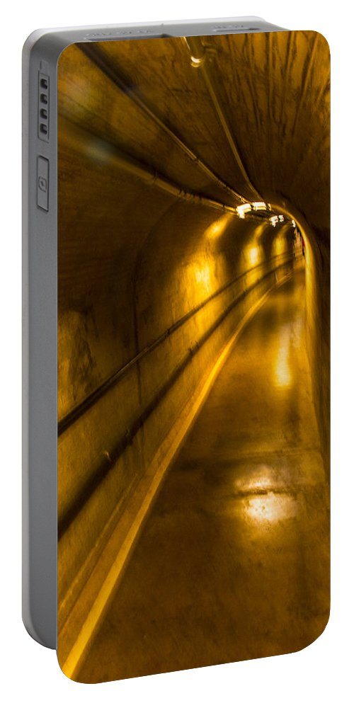 Nevada Portable Battery Charger featuring the photograph Hoover Dam Tunnel by Angus Hooper Iii