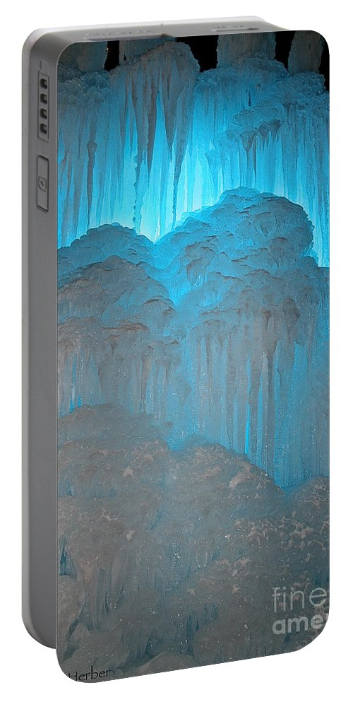 Ice Portable Battery Charger featuring the photograph Ice Rising by Susan Herber