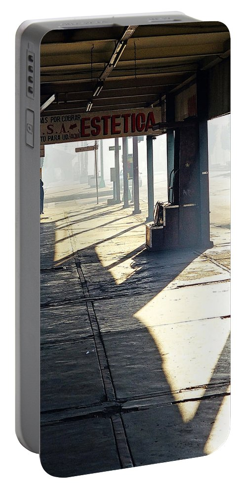 Mexicali Portable Battery Charger featuring the photograph In The Shadows Of Mexicali by Cora Wandel
