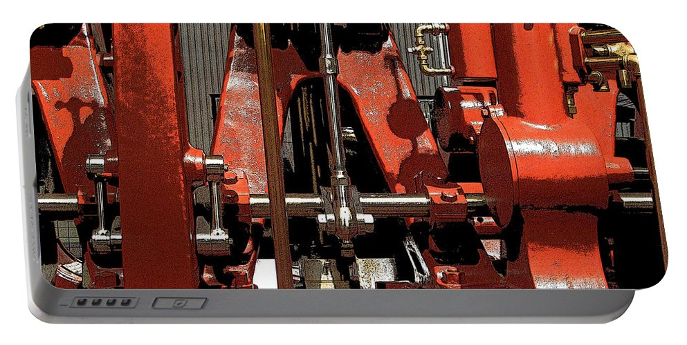 Machinery Portable Battery Charger featuring the photograph Industry by Ian MacDonald