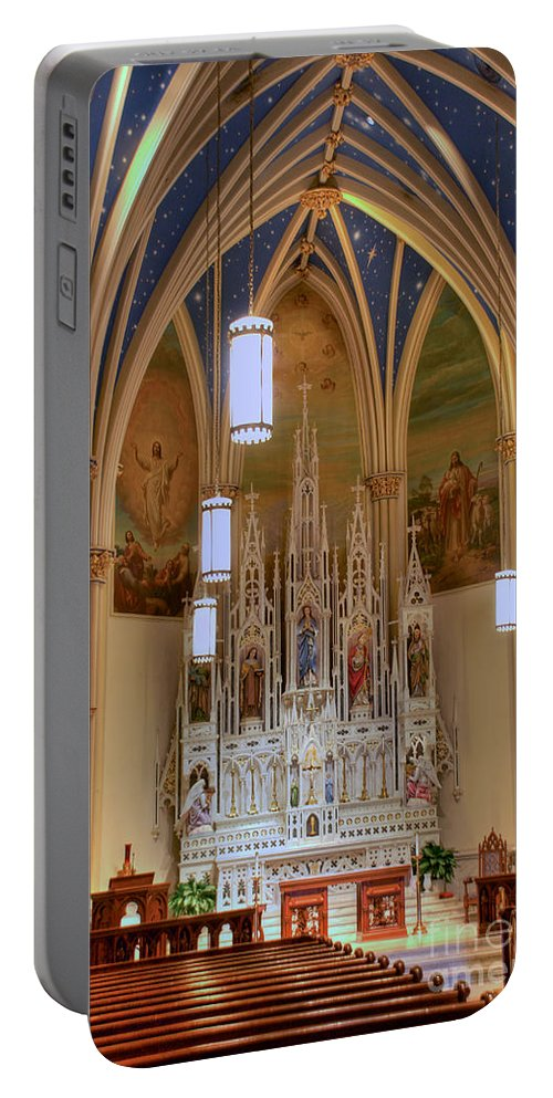 Annapolis Portable Battery Charger featuring the photograph Interior Of St. Mary's Church by Mark Dodd