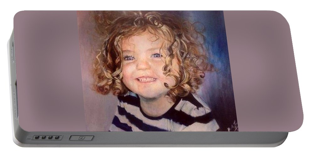 Toddler Portable Battery Charger featuring the painting Irish Eyes by Siobhan Lewis