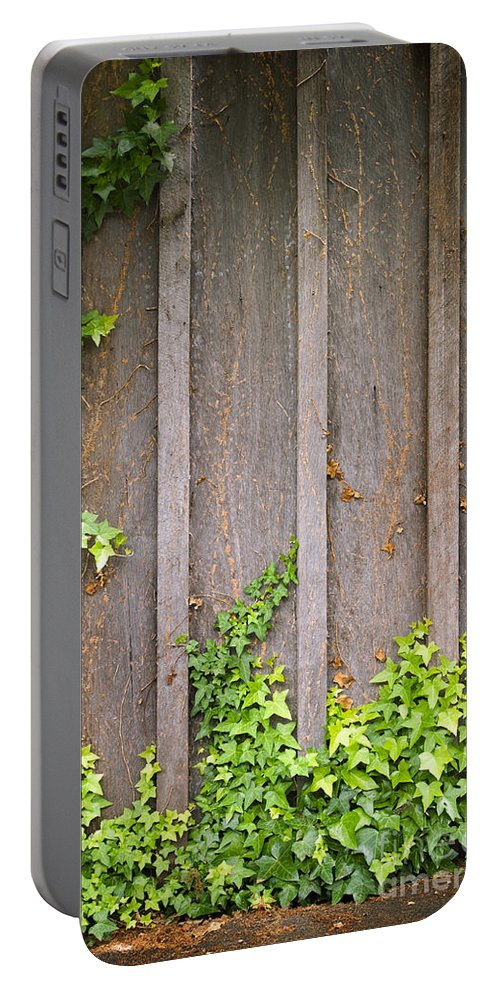 Scenics Portable Battery Charger featuring the photograph Ivy Wall Frame by Tim Hester