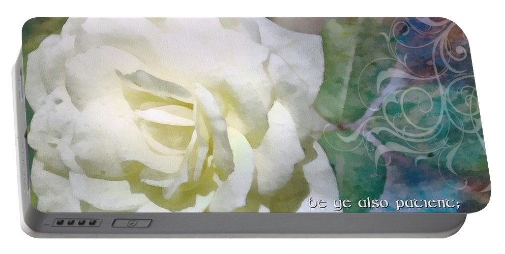 Jesus Portable Battery Charger featuring the digital art James 5 8 by Michelle Greene Wheeler