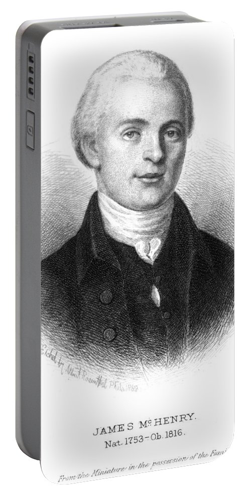 18th Century Portable Battery Charger featuring the photograph James Mchenry (1753-1816) by Granger
