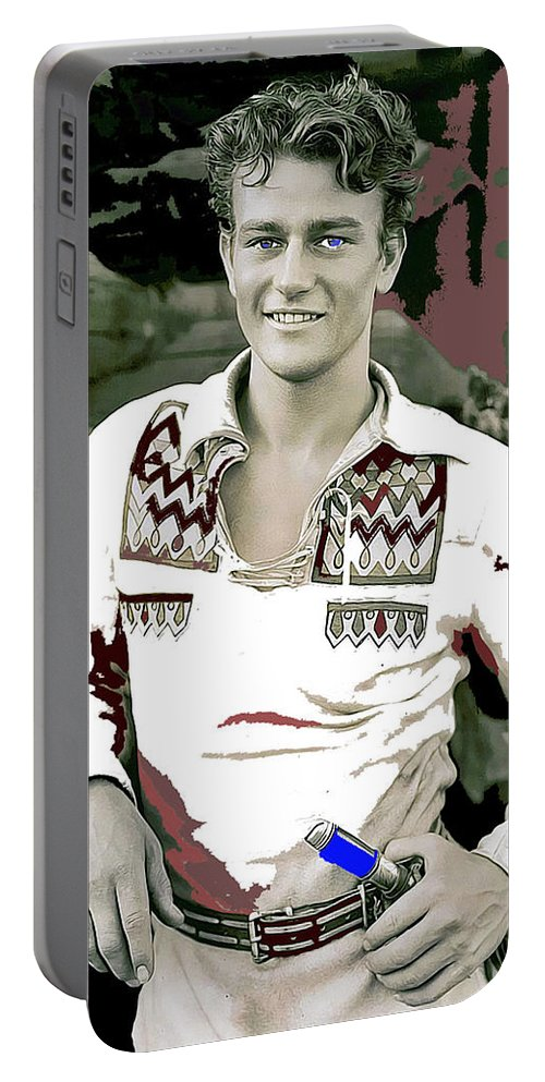 John Wayne In Buckskins The Big Trail 1930 Portable Battery Charger featuring the photograph John Wayne In Buckskins The Big Trail 1930-2013 by David Lee Guss
