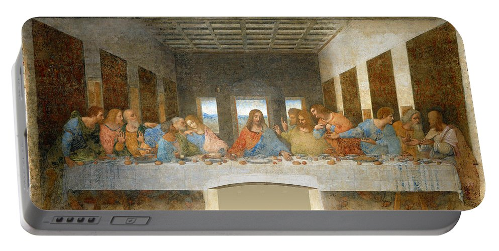 Leonardo Da Vinci Portable Battery Charger featuring the painting Last Supper by Leonardo Da Vinci