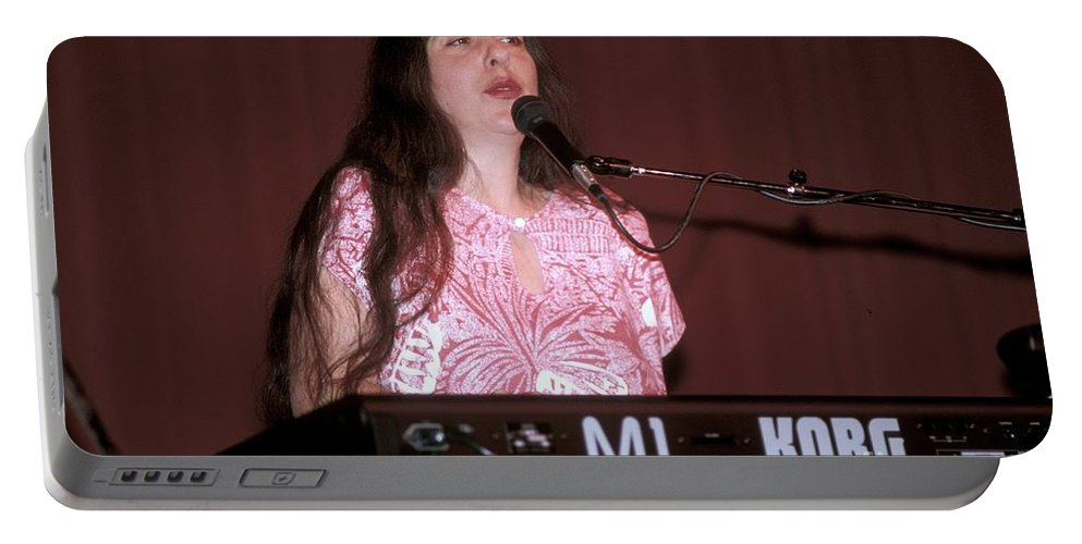 Singer Portable Battery Charger featuring the photograph Laura Nyro by Concert Photos