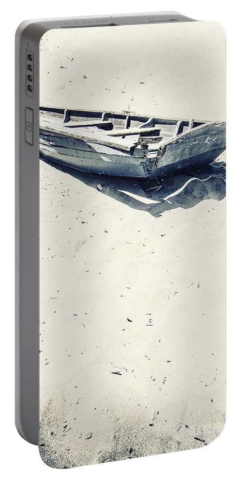 Boat Portable Battery Charger featuring the photograph Left by Margie Hurwich