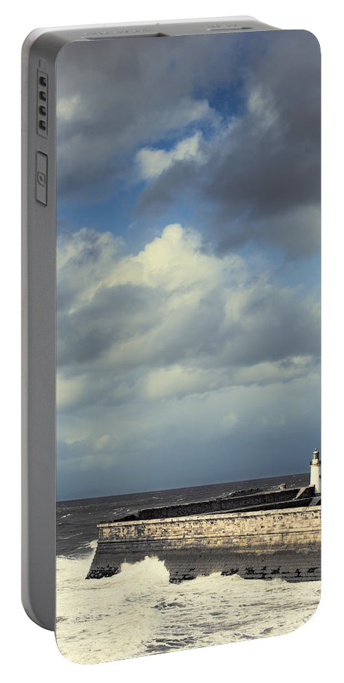 Lighthouse Portable Battery Charger featuring the photograph Lighthouse At Whitehaven by Amanda Elwell