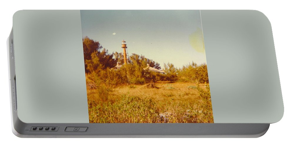Sanibel Is.florida Portable Battery Charger featuring the photograph Lighthouse Landscape by Robert Floyd