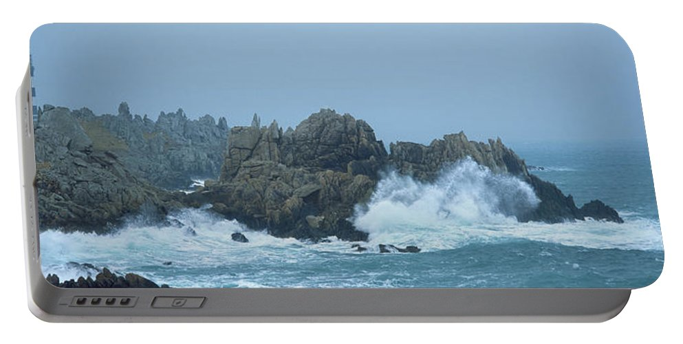 Photography Portable Battery Charger featuring the photograph Lighthouse On An Island, Creach by Panoramic Images