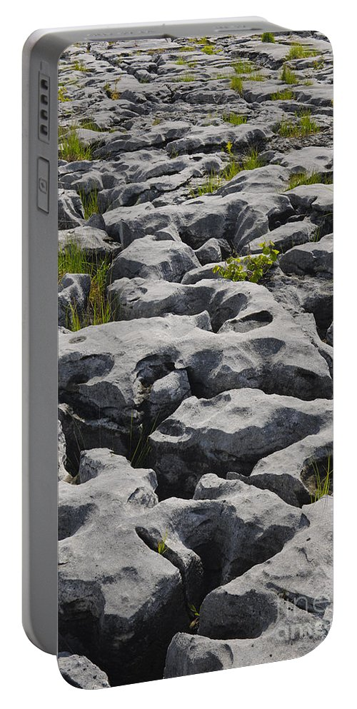 Ireland Portable Battery Charger featuring the photograph Limestone In The Burren by John Shaw