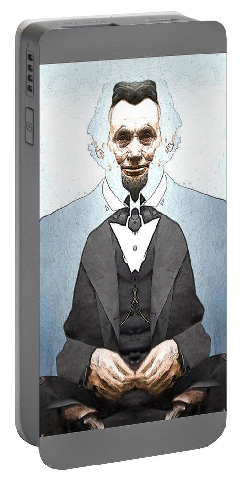 Portable Battery Charger featuring the digital art Lincoln Childlike by Zac AlleyWalker Lowing