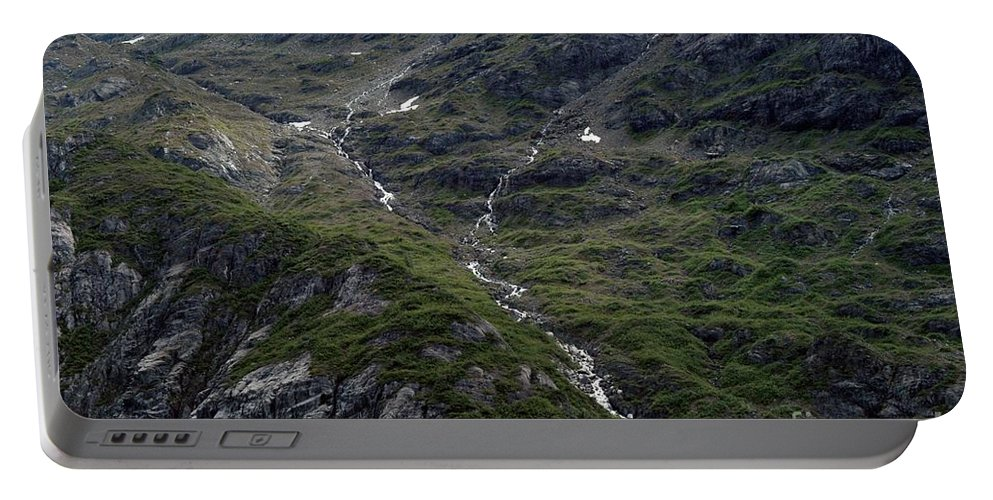 Alaska Portable Battery Charger featuring the photograph Long Way Down by Joseph Yarbrough