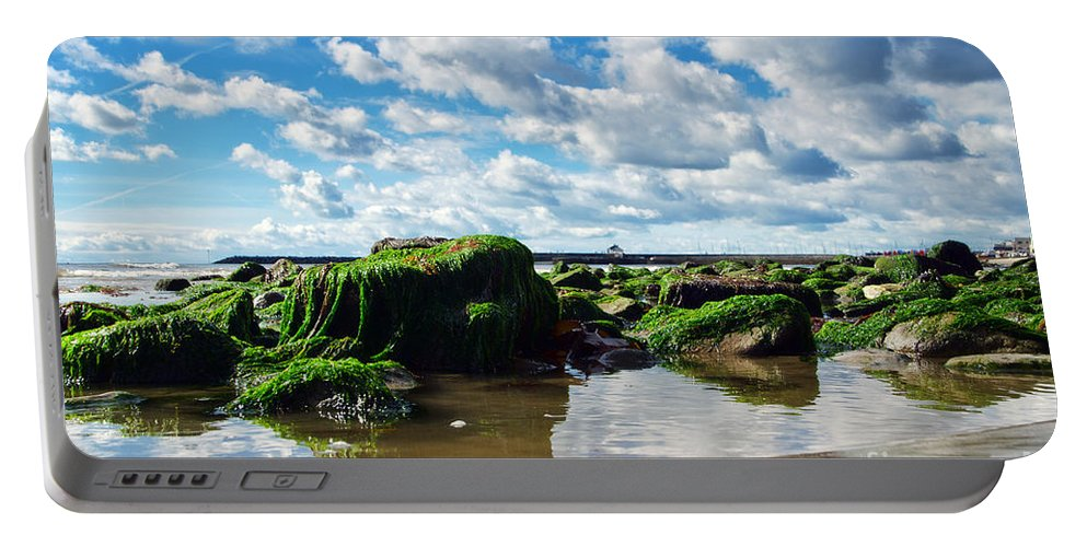 Lyme Regis Portable Battery Charger featuring the photograph Low Tide At Lyme Regis by Susie Peek