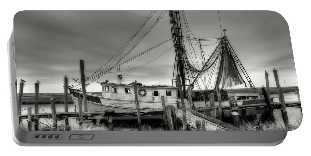 Shrimp Boat Portable Battery Charger featuring the photograph Lowcountry Shrimp Boat by Scott Hansen