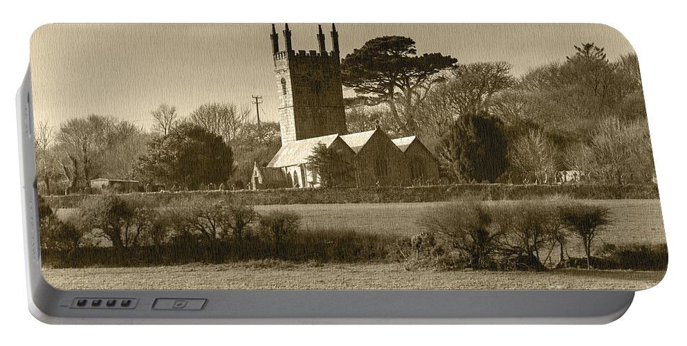Cornish Landscape Portable Battery Charger featuring the photograph Mabe Church by Brian Roscorla