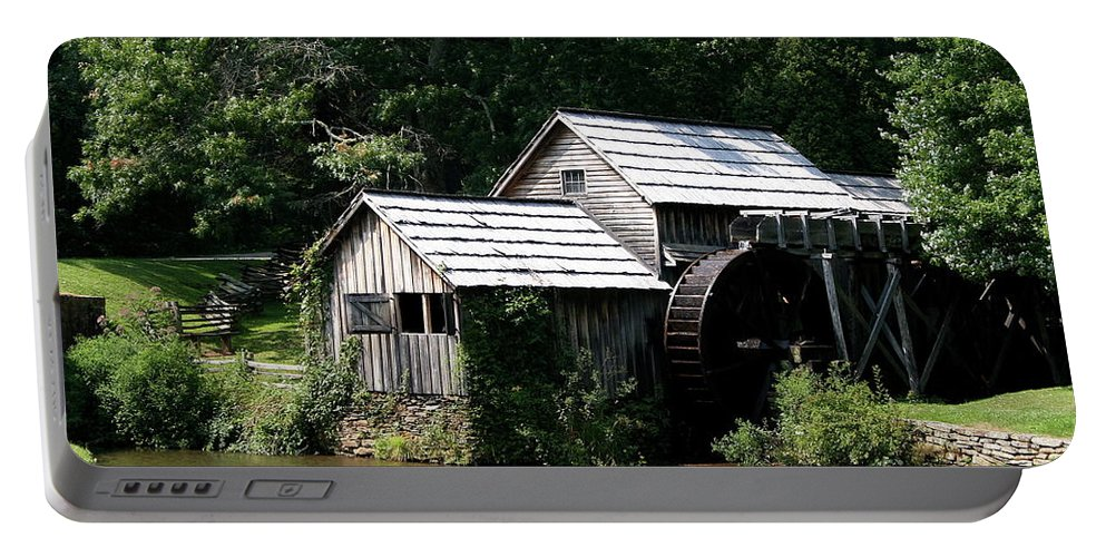 Mill Portable Battery Charger featuring the photograph Mabry Mill by Christiane Schulze Art And Photography