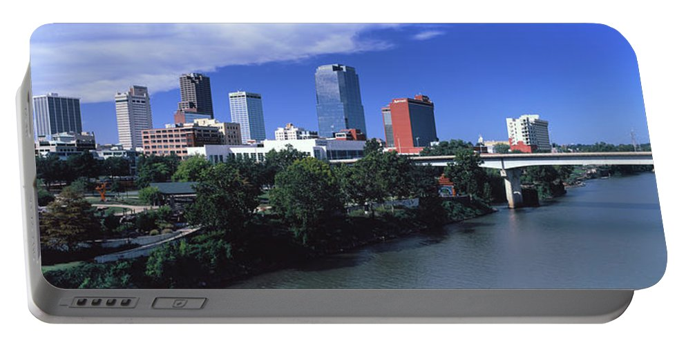 Photography Portable Battery Charger featuring the photograph Main Street Bridge Across Arkansas by Panoramic Images