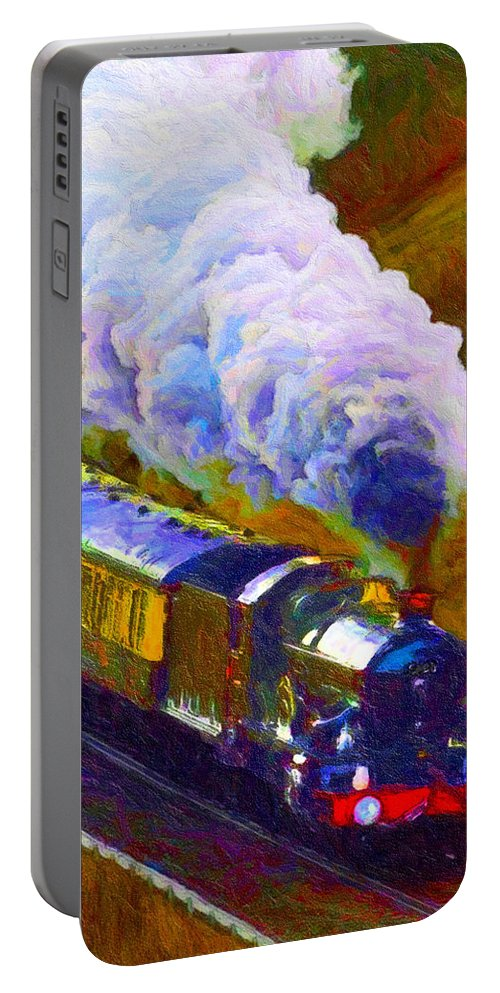 Art Portable Battery Charger featuring the digital art Making Smoke by Chuck Mountain