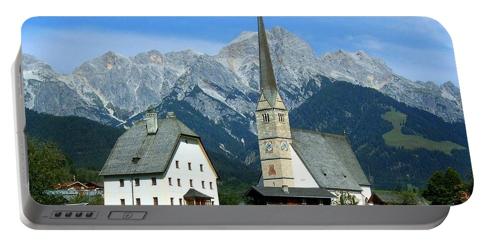 Europe Portable Battery Charger featuring the photograph Maria Alm by Juergen Weiss