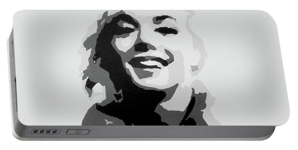 Marilyn Monroe Portable Battery Charger featuring the painting Marilyn Monroe by Katharina Filus