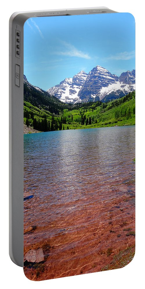 Maroon Bells Portable Battery Charger featuring the photograph Maroon Bells by Dan Sproul