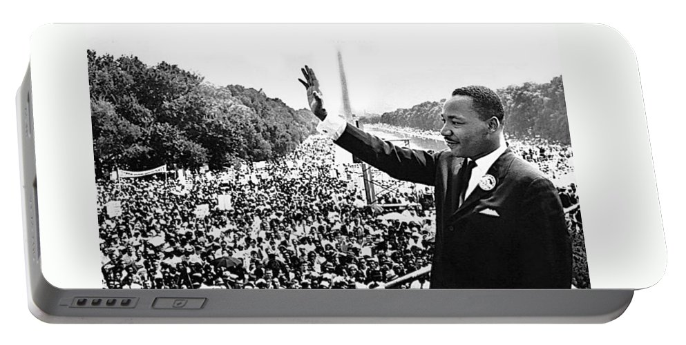 Martin Luther King The Great March On Washington Lincoln Memorial August 28 1963 Portable Battery Charger featuring the photograph Martin Luther King The Great March On Washington Lincoln Memorial August 28 1963-2014 by David Lee Guss