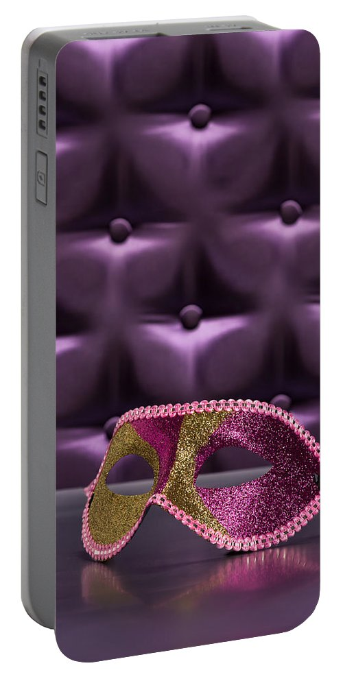 Button-tufted Portable Battery Charger featuring the photograph Masquerade by U Schade